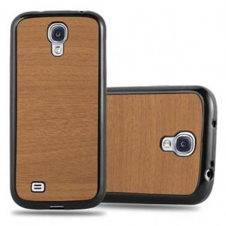 Cadorabo Hülle für Samsung Galaxy S4 in WOODEN BRAUN - Handyhülle aus flexiblem TPU Silikon - Silikonhülle Schutzhülle Ultra Slim Soft Back Cover Case Bumper