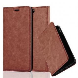 Cadorabo Hülle für Huawei P10 PLUS in CAPPUCCINO BRAUN - Handyhülle mit Magnetverschluss, Standfunktion und Kartenfach - Case Cover Schutzhülle Etui Tasche Book Klapp Style