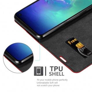 Cadorabo Hülle für Samsung Galaxy S10e in APFEL ROT Handyhülle mit Magnetverschluss, Standfunktion und Kartenfach Case Cover Schutzhülle Etui Tasche Book Klapp Style - Vorschau 2