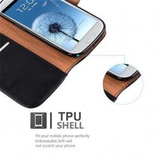 Cadorabo Hülle für Samsung Galaxy S3 / S3 NEO in GRAPHIT SCHWARZ ? Handyhülle mit Magnetverschluss, Standfunktion und Kartenfach ? Case Cover Schutzhülle Etui Tasche Book Klapp Style - Vorschau 4