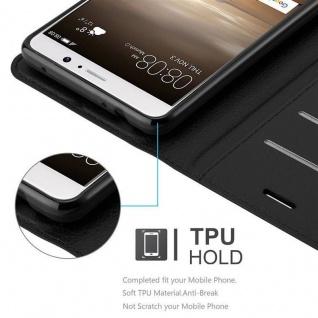 Cadorabo Hülle für Huawei MATE 10 in PHANTOM SCHWARZ - Handyhülle mit Magnetverschluss, Standfunktion und Kartenfach - Case Cover Schutzhülle Etui Tasche Book Klapp Style - Vorschau 4