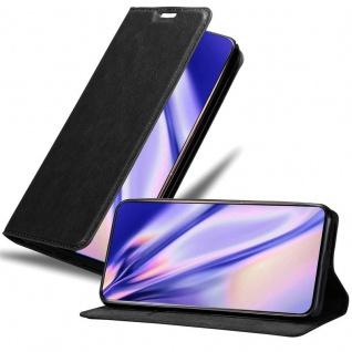 Cadorabo Hülle für Samsung Galaxy A80 / A90 in NACHT SCHWARZ Handyhülle mit Magnetverschluss, Standfunktion und Kartenfach Case Cover Schutzhülle Etui Tasche Book Klapp Style