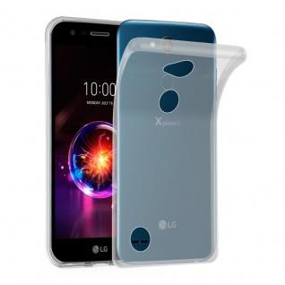Cadorabo Hülle für LG X POWER 3 in VOLL TRANSPARENT - Handyhülle aus flexiblem TPU Silikon - Silikonhülle Schutzhülle Ultra Slim Soft Back Cover Case Bumper