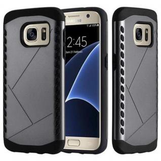 Cadorabo Hülle für Samsung Galaxy S7 - Hülle in GUARDIAN GRAU - Hard Case TPU Silikon Schutzhülle für Hybrid Cover im Outdoor Heavy Duty Design