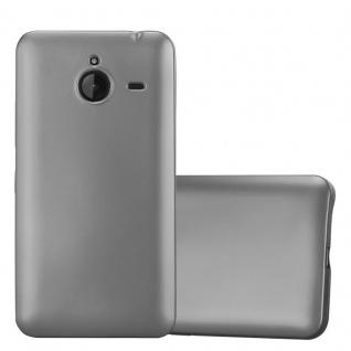 Cadorabo Hülle für Nokia Lumia 640 XL in METALLIC GRAU - Handyhülle aus flexiblem TPU Silikon - Silikonhülle Schutzhülle Ultra Slim Soft Back Cover Case Bumper