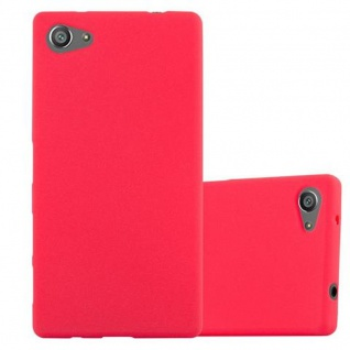 Cadorabo Hülle für Sony Xperia Z5 COMPACT - Hülle in FROST ROT ? Handyhülle aus TPU Silikon im matten Frosted Design - Ultra Slim Soft Backcover Case Bumper