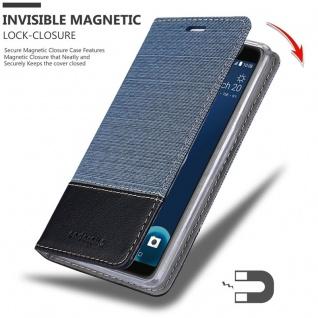 Cadorabo Hülle für HTC Desire 12 in DUNKEL BLAU SCHWARZ - Handyhülle mit Magnetverschluss, Standfunktion und Kartenfach - Case Cover Schutzhülle Etui Tasche Book Klapp Style - Vorschau 3