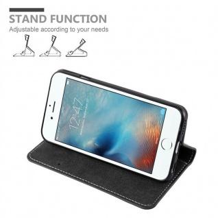 Cadorabo Hülle für Apple iPhone 6 PLUS / iPhone 6S PLUS in SCHWARZ BRAUN ? Handyhülle mit Magnetverschluss, Standfunktion und Kartenfach ? Case Cover Schutzhülle Etui Tasche Book Klapp Style - Vorschau 4