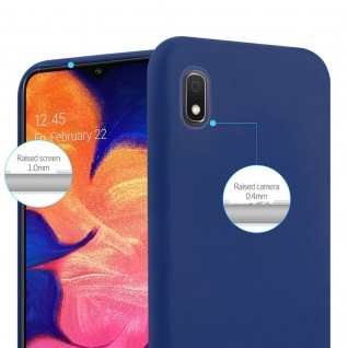 Cadorabo Hülle für Samsung Galaxy A10 in CANDY DUNKEL BLAU - Handyhülle aus flexiblem TPU Silikon - Silikonhülle Schutzhülle Ultra Slim Soft Back Cover Case Bumper - Vorschau 3