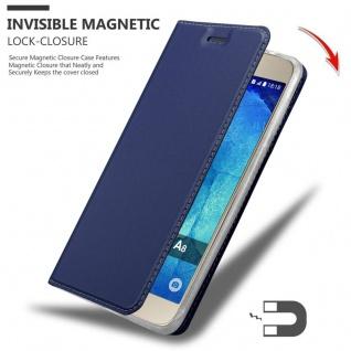 Cadorabo Hülle für Samsung Galaxy A8 2015 in CLASSY DUNKEL BLAU - Handyhülle mit Magnetverschluss, Standfunktion und Kartenfach - Case Cover Schutzhülle Etui Tasche Book Klapp Style - Vorschau 3