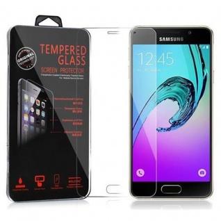 Cadorabo Panzer Folie für Samsung Galaxy A3 2016 - Schutzfolie in KRISTALL KLAR - Gehärtetes (Tempered) Display-Schutzglas in 9H Härte mit 3D Touch Kompatibilität
