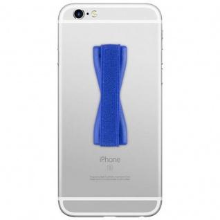 Cadorabo - Finger-Halterung Sling Grip für Smartphone / Tablet / iPod / eReader Griff Henkel Sling Schlaufe Riemen in BLAU - Vorschau 2