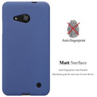 Cadorabo Hülle für Nokia Lumia 550 in FROST DUNKEL BLAU - Handyhülle aus flexiblem TPU Silikon - Silikonhülle Schutzhülle Ultra Slim Soft Back Cover Case Bumper - Vorschau 2