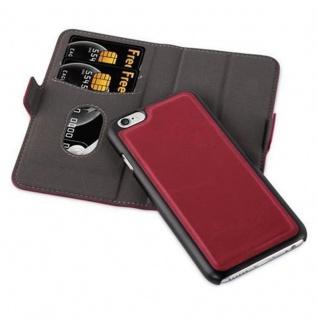 Cadorabo Hülle für Apple iPhone 6 / iPhone 6S - Hülle in GRANATAPFEL ROT - Handyhülle im 2-in-1 Design mit Standfunktion und Kartenfach - Hard Case Book Etui Schutzhülle Tasche Cover - Vorschau 2