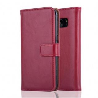 Cadorabo Hülle für Samsung Galaxy S7 EDGE in WEIN ROT ? Handyhülle mit Magnetverschluss, Standfunktion und Kartenfach ? Case Cover Schutzhülle Etui Tasche Book Klapp Style - Vorschau 2