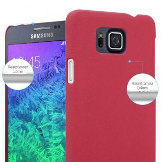 Cadorabo Hülle für Samsung Galaxy ALPHA in FROSTY ROT - Hardcase Handyhülle aus Plastik gegen Kratzer und Stöße - Schutzhülle Bumper Ultra Slim Back Case Hard Cover - Vorschau 4
