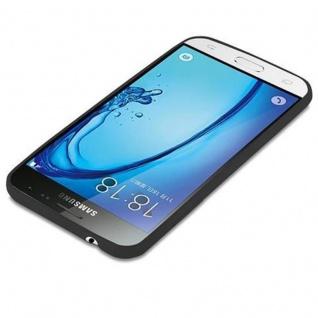 Cadorabo Hülle für Samsung Galaxy J3 2015 in CANDY SCHWARZ - Handyhülle aus flexiblem TPU Silikon - Silikonhülle Schutzhülle Ultra Slim Soft Back Cover Case Bumper - Vorschau 3