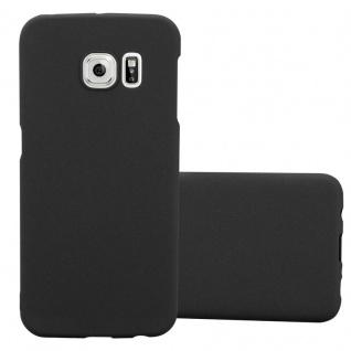 Cadorabo Hülle für Samsung Galaxy S6 EDGE in FROSTY SCHWARZ Hardcase Handyhülle aus Plastik gegen Kratzer und Stöße Schutzhülle Bumper Ultra Slim Back Case Hard Cover