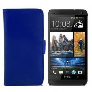 Cadorabo Hülle für HTC ONE M4 MINI in BRILLANT BLAU - Handyhülle aus glattem Kunstleder mit Standfunktion und Kartenfach - Case Cover Schutzhülle Etui Tasche Book Klapp Style - Vorschau 2