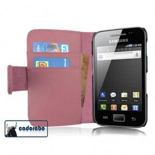 Cadorabo Hülle für Samsung Galaxy ACE 1 in ANTIK ROSA - Handyhülle aus glattem Kunstleder mit Standfunktion und Kartenfach - Case Cover Schutzhülle Etui Tasche Book Klapp Style