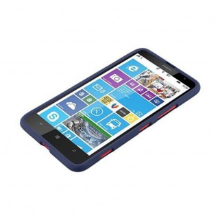 Cadorabo Hülle für Nokia Lumia 1320 in FROST DUNKEL BLAU - Handyhülle aus flexiblem TPU Silikon - Silikonhülle Schutzhülle Ultra Slim Soft Back Cover Case Bumper - Vorschau 4