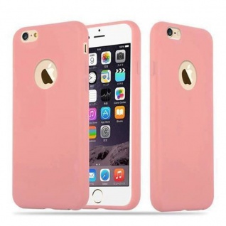 Cadorabo Hülle für Apple iPhone 6 PLUS / iPhone 6S PLUS - Hülle in CANDY ROSA ? Handyhülle aus TPU Silikon im Candy Design - Ultra Slim Soft Backcover Case Bumper