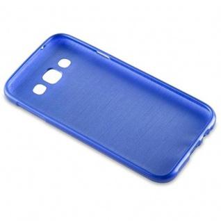 Cadorabo Hülle für Samsung Galaxy E5 2015 in BLAU - Handyhülle aus flexiblem TPU Silikon - Silikonhülle Schutzhülle Ultra Slim Soft Back Cover Case Bumper - Vorschau 3