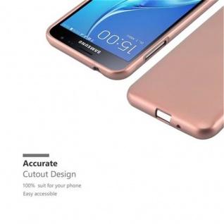 Cadorabo Hülle für Samsung Galaxy J3 / J3 DUOS 2016 in METALLIC ROSE GOLD - Handyhülle aus flexiblem TPU Silikon - Silikonhülle Schutzhülle Ultra Slim Soft Back Cover Case Bumper - Vorschau 5