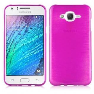 Cadorabo Hülle für Samsung Galaxy J7 2015 in PINK - Handyhülle aus flexiblem TPU Silikon - Silikonhülle Schutzhülle Ultra Slim Soft Back Cover Case Bumper
