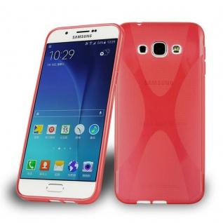 Cadorabo Hülle für Samsung Galaxy A8 2015 in INFERNO ROT ? Handyhülle aus flexiblem TPU Silikon ? Silikonhülle Schutzhülle Ultra Slim Soft Back Cover Case Bumper