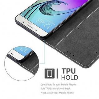 Cadorabo Hülle für Samsung Galaxy A3 2016 in SCHWARZ BRAUN ? Handyhülle mit Magnetverschluss, Standfunktion und Kartenfach ? Case Cover Schutzhülle Etui Tasche Book Klapp Style - Vorschau 4