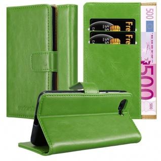 Cadorabo Hülle für OnePlus 5 in GRAS GRÜN Handyhülle mit Magnetverschluss, Standfunktion und Kartenfach Case Cover Schutzhülle Etui Tasche Book Klapp Style