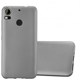 Cadorabo Hülle für HTC Desire 10 PRO in METALLIC GRAU - Handyhülle aus flexiblem TPU Silikon - Silikonhülle Schutzhülle Ultra Slim Soft Back Cover Case Bumper