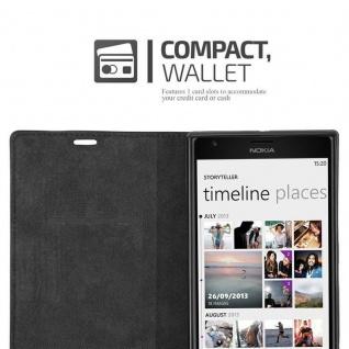 Cadorabo Hülle für Nokia Lumia 1520 in NACHT SCHWARZ - Handyhülle mit Magnetverschluss, Standfunktion und Kartenfach - Case Cover Schutzhülle Etui Tasche Book Klapp Style - Vorschau 5