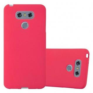 Cadorabo Hülle für LG G6 in FROST ROT - Handyhülle aus flexiblem TPU Silikon - Silikonhülle Schutzhülle Ultra Slim Soft Back Cover Case Bumper