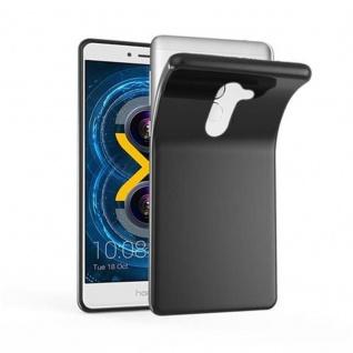 Cadorabo Hülle für Huawei MATE 9 LITE in SCHWARZ - Handyhülle aus flexiblem TPU Silikon - Silikonhülle Schutzhülle Ultra Slim Soft Back Cover Case Bumper