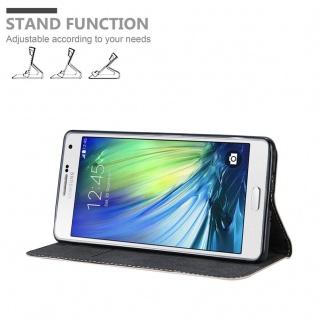 Cadorabo Hülle für Samsung Galaxy A7 2015 in ROSÉ GOLD SCHWARZ ? Handyhülle mit Magnetverschluss, Standfunktion und Kartenfach ? Case Cover Schutzhülle Etui Tasche Book Klapp Style - Vorschau 2