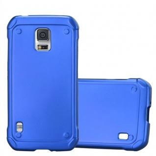 Cadorabo Hülle für Samsung Galaxy S5 Active in METALLIC BLAU - Handyhülle aus flexiblem TPU Silikon - Silikonhülle Schutzhülle Ultra Slim Soft Back Cover Case Bumper - Vorschau 1