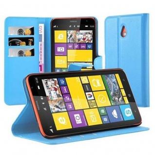 Cadorabo Hülle für Nokia Lumia 1320 in PASTEL BLAU - Handyhülle mit Magnetverschluss, Standfunktion und Kartenfach - Case Cover Schutzhülle Etui Tasche Book Klapp Style