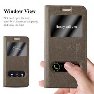 Cadorabo Hülle für Samsung Galaxy S7 in STEIN BRAUN ? Handyhülle mit Magnetverschluss, Standfunktion und 2 Sichtfenstern ? Case Cover Schutzhülle Etui Tasche Book Klapp Style - Vorschau 2