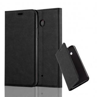 Cadorabo Hülle für HTC OCEAN / U11 in NACHT SCHWARZ - Handyhülle mit Magnetverschluss, Standfunktion und Kartenfach - Case Cover Schutzhülle Etui Tasche Book Klapp Style