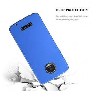 Cadorabo Hülle für Motorola MOTO Z PLAY in METALL BLAU ? Hardcase Handyhülle aus Plastik gegen Kratzer und Stöße ? Schutzhülle Bumper Ultra Slim Back Case Hard Cover - Vorschau 3