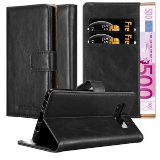 Cadorabo Hülle für Samsung Galaxy NOTE 8 in GRAPHIT SCHWARZ Handyhülle mit Magnetverschluss, Standfunktion und Kartenfach Case Cover Schutzhülle Etui Tasche Book Klapp Style