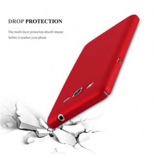 Cadorabo Hülle für Samsung Galaxy GRAND PRIME in METALL ROT - Hardcase Handyhülle aus Plastik gegen Kratzer und Stöße - Schutzhülle Bumper Ultra Slim Back Case Hard Cover - Vorschau 2