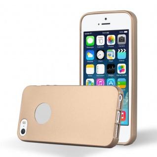 Cadorabo Hülle für Apple iPhone 5 / iPhone 5S in METALLIC ROSE GOLD - Handyhülle aus flexiblem TPU Silikon - Silikonhülle Schutzhülle Ultra Slim Soft Back Cover Case Bumper