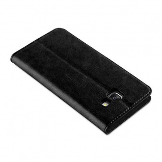 Cadorabo Hülle für Samsung Galaxy A3 2016 in NACHT SCHWARZ - Handyhülle mit Magnetverschluss, Standfunktion und Kartenfach - Case Cover Schutzhülle Etui Tasche Book Klapp Style - Vorschau 4