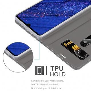 Cadorabo Hülle für Huawei MATE 20 in HELL GRAU BRAUN - Handyhülle mit Magnetverschluss, Standfunktion und Kartenfach - Case Cover Schutzhülle Etui Tasche Book Klapp Style - Vorschau 2