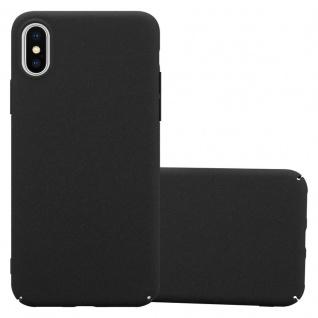 Cadorabo Hülle für Apple iPhone X / XS in FROSTY SCHWARZ - Hardcase Handyhülle aus Plastik gegen Kratzer und Stöße - Schutzhülle Bumper Ultra Slim Back Case Hard Cover