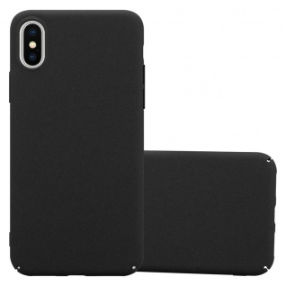 Cadorabo Hülle für Apple iPhone X / XS in FROSTY SCHWARZ Hardcase Handyhülle aus Plastik gegen Kratzer und Stöße Schutzhülle Bumper Ultra Slim Back Case Hard Cover