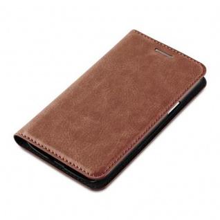 Cadorabo Hülle für Samsung Galaxy J1 2015 in CAPPUCCINO BRAUN - Handyhülle mit Magnetverschluss, Standfunktion und Kartenfach - Case Cover Schutzhülle Etui Tasche Book Klapp Style - Vorschau 3